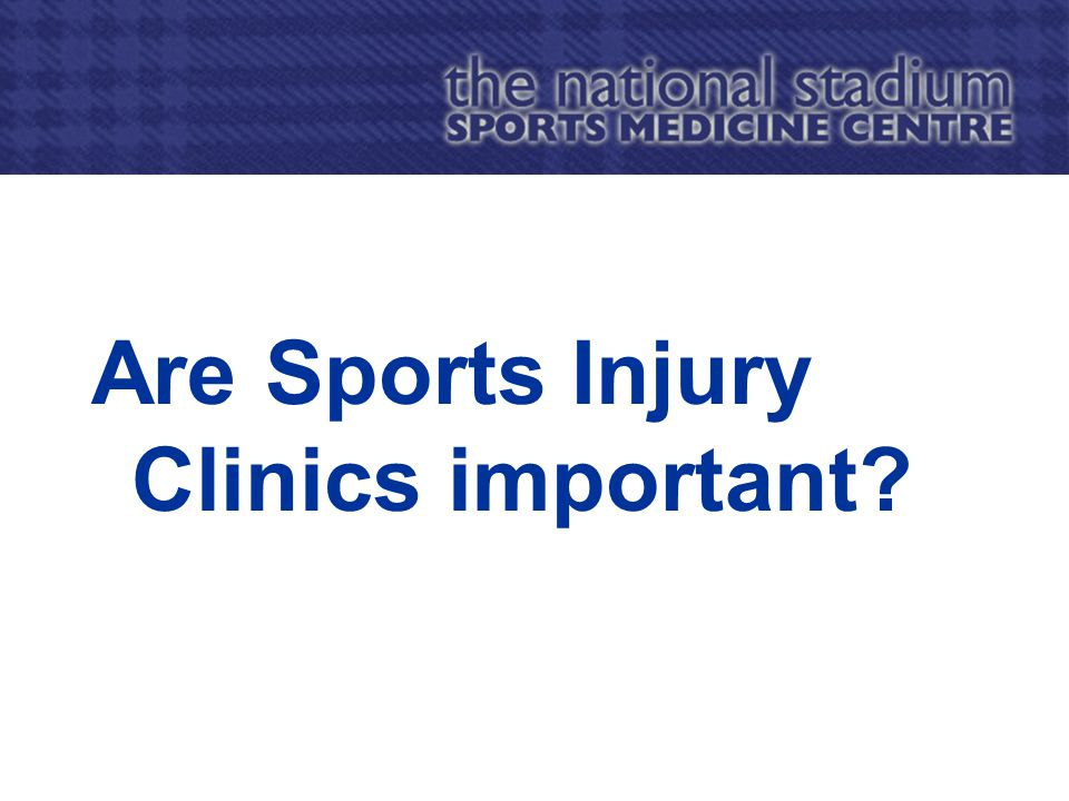 Are Sports Injury Clinics important