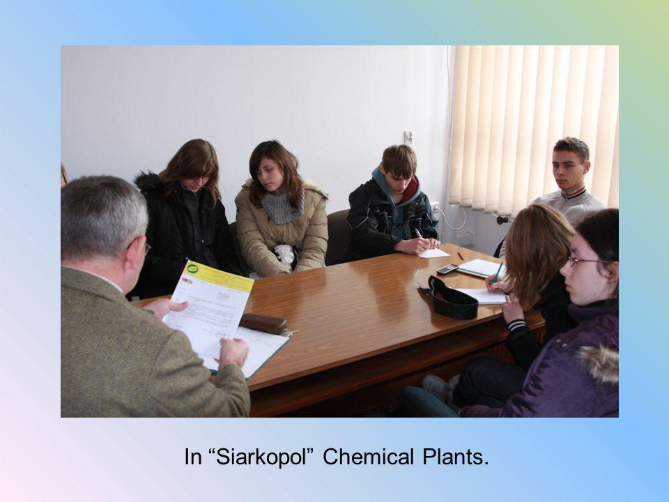 """In """"Siarkopol"""" Chemical Plants."""