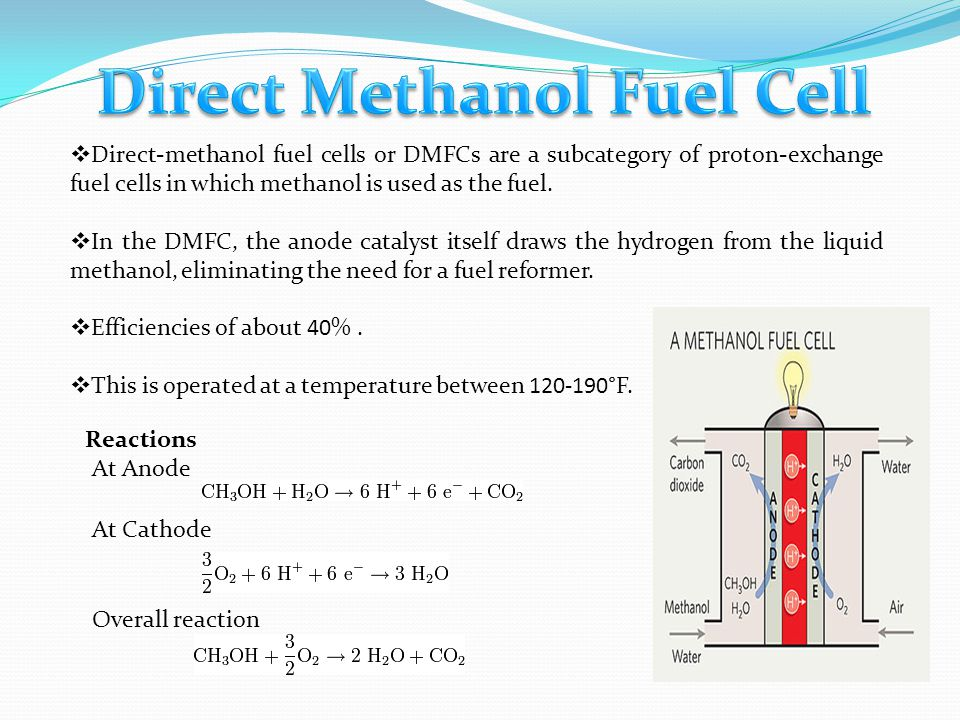  Phosphoric acid fuel cells use liquid phosphoric acid as the electrolyte and operate at about 450°F.