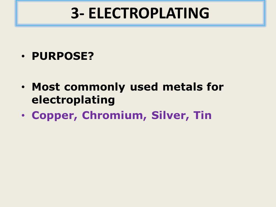 3- ELECTROPLATING PURPOSE.
