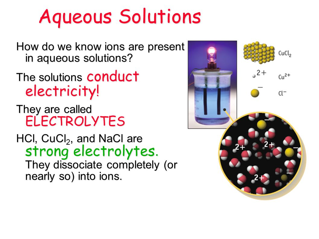 How do we know ions are present in aqueous solutions.