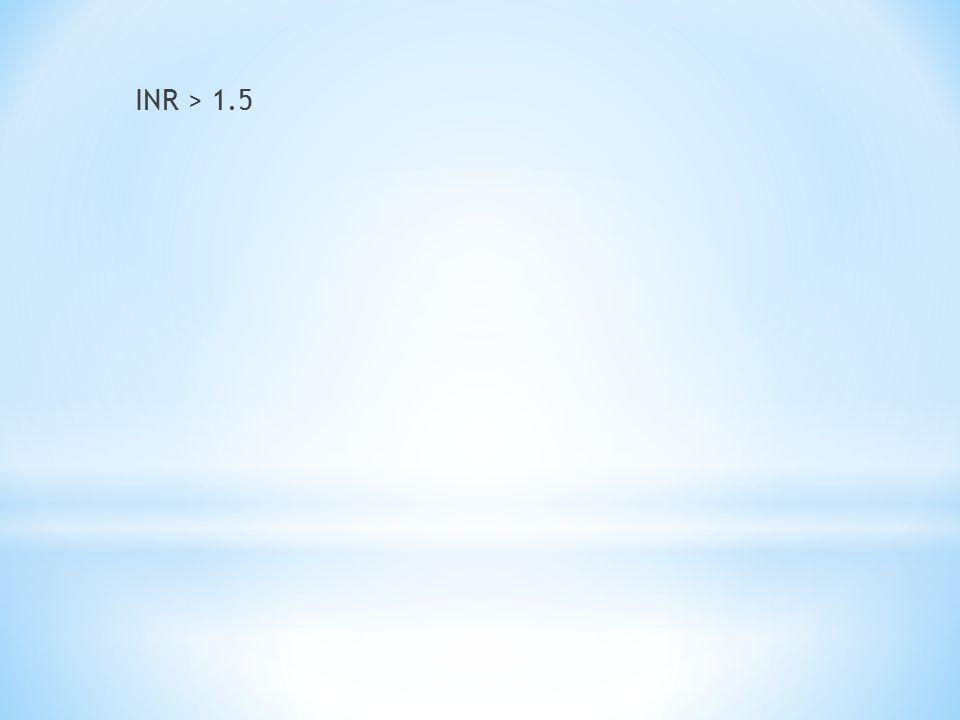 INR > 1.5