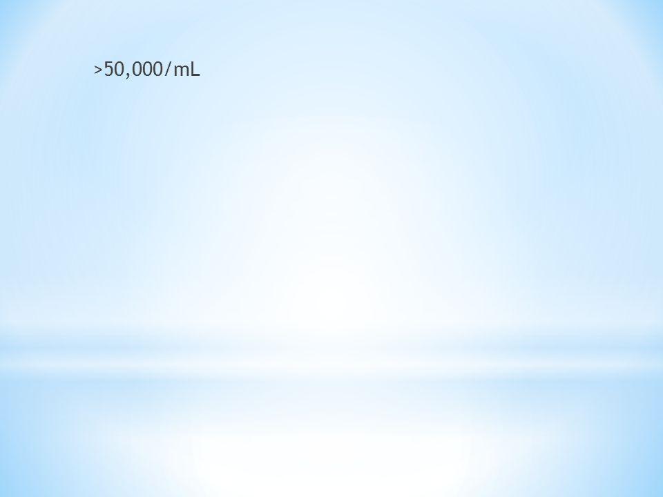 >50,000/mL