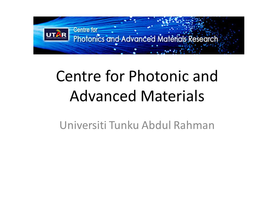 Introduction Photonic and advanced materials are areas of technology, which are advancing rapidly in the past two decades.