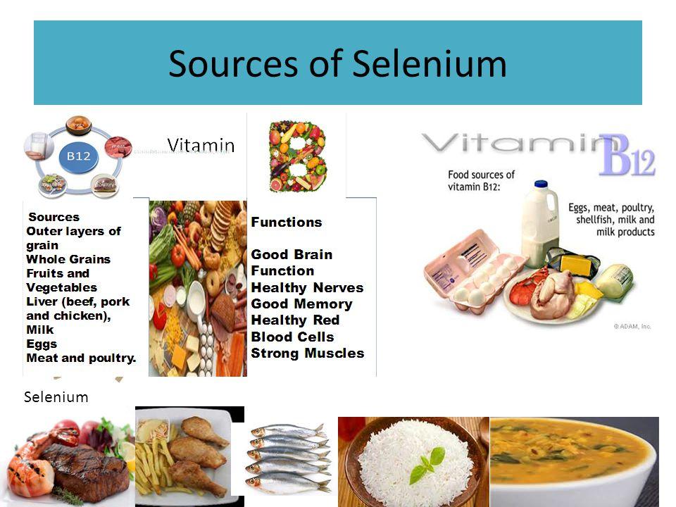 Sources of Selenium Selenium
