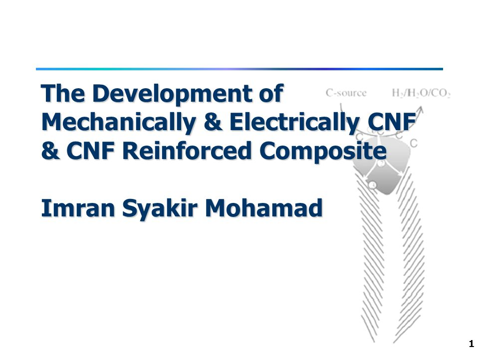 1 The Development of Mechanically & Electrically CNF & CNF Reinforced Composite Imran Syakir Mohamad