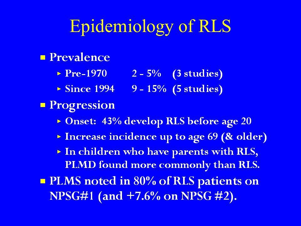 Epidemiology of RLS