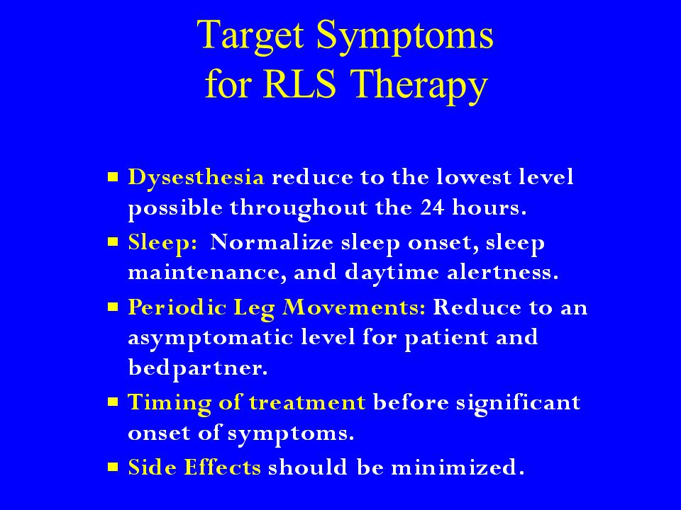Target Symptoms for RLS Therapy