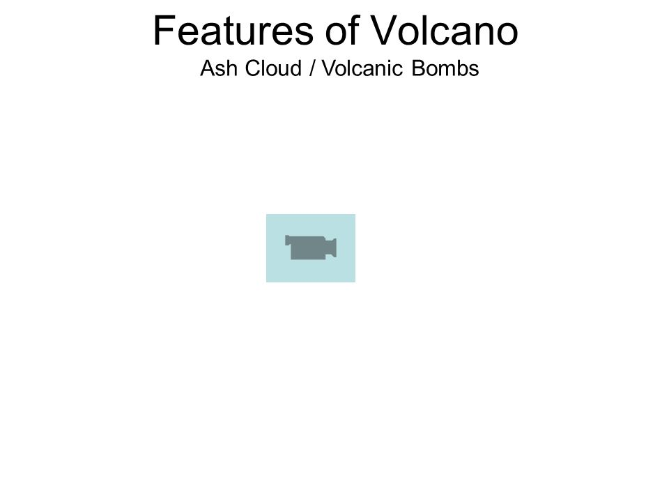 Features of Volcano Ash Cloud / Volcanic Bombs