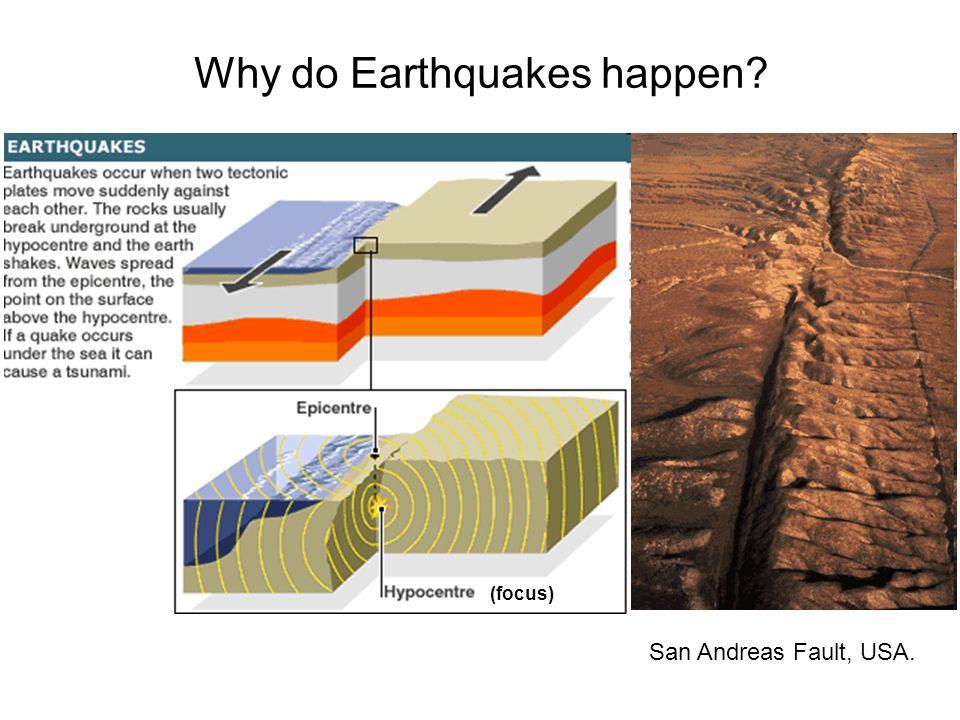 Why do Earthquakes happen San Andreas Fault, USA. (focus)