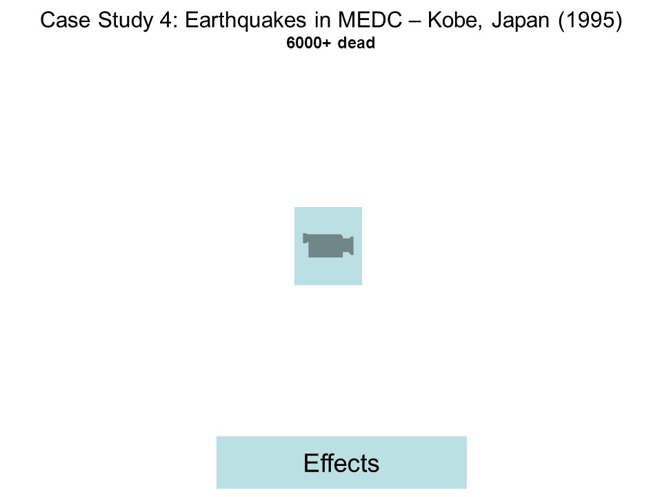 Case Study 4: Earthquakes in MEDC – Kobe, Japan (1995) 6000+ dead Effects