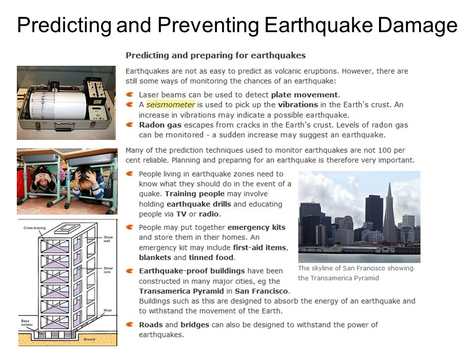 Predicting and Preventing Earthquake Damage