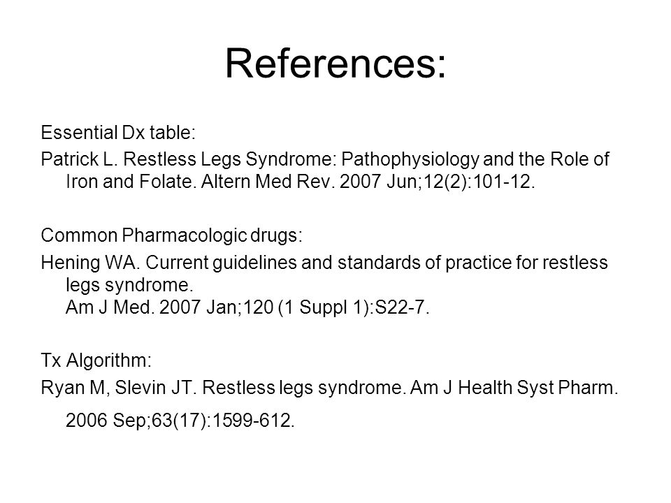 References: Essential Dx table: Patrick L.