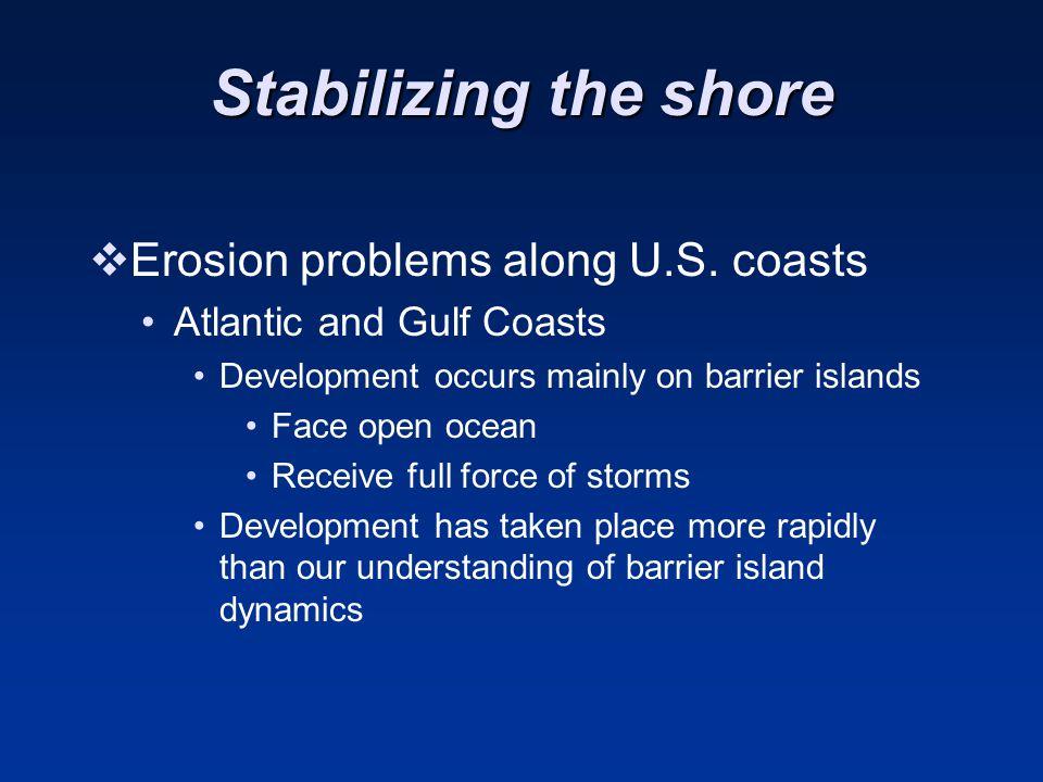 Stabilizing the shore  Erosion problems along U.S.