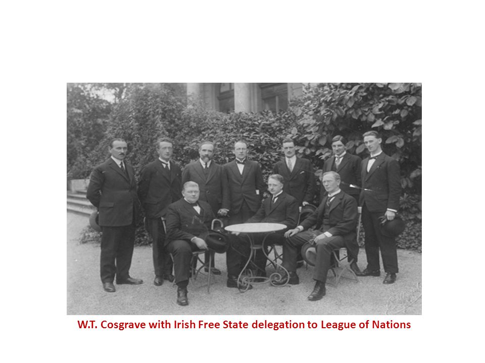 W.T. Cosgrave with Irish Free State delegation to League of Nations