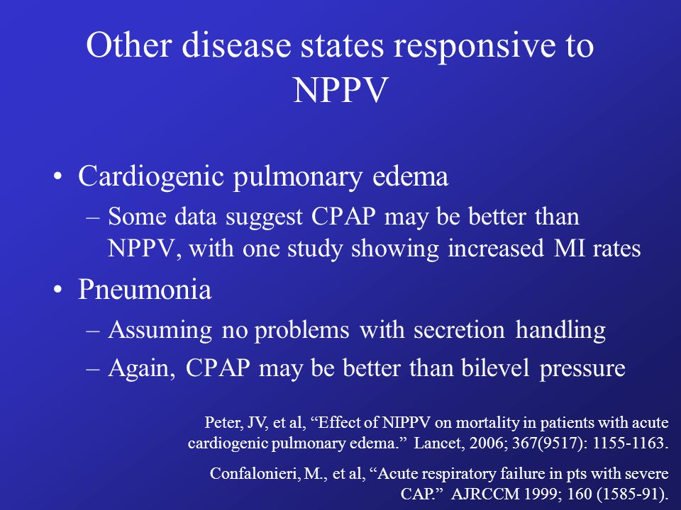 Who shouldn't receive NPPV.