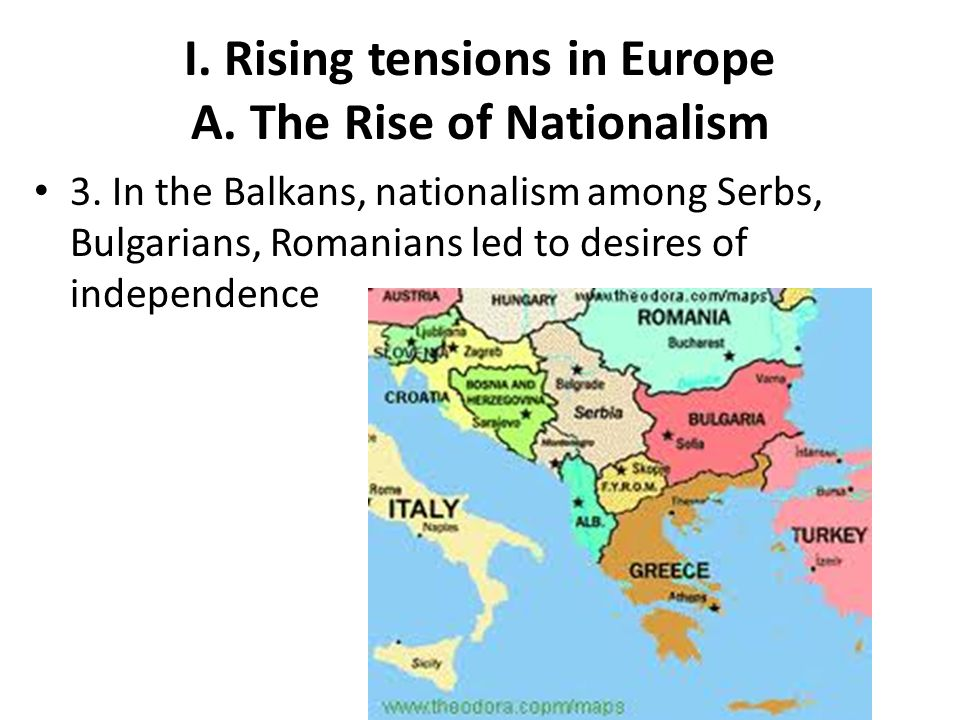 I.Rising tensions in Europe B. Imperialism & Militarism 1.