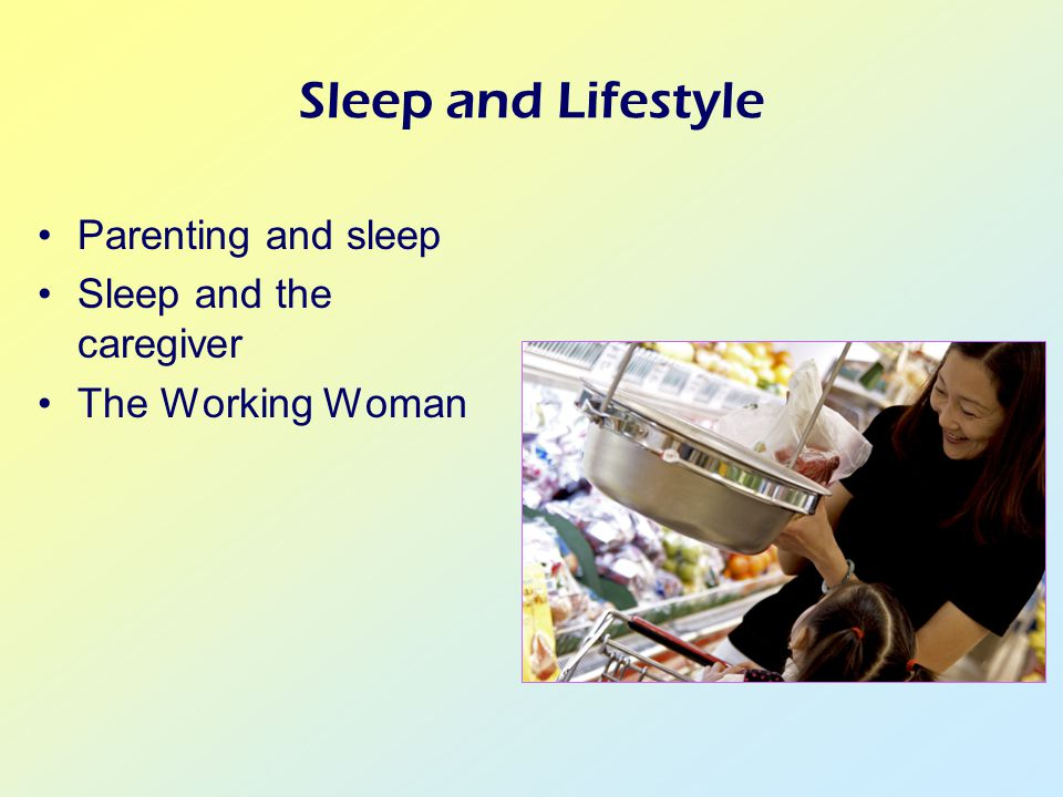 Sleep and Lifestyle Parenting and sleep Sleep and the caregiver The Working Woman