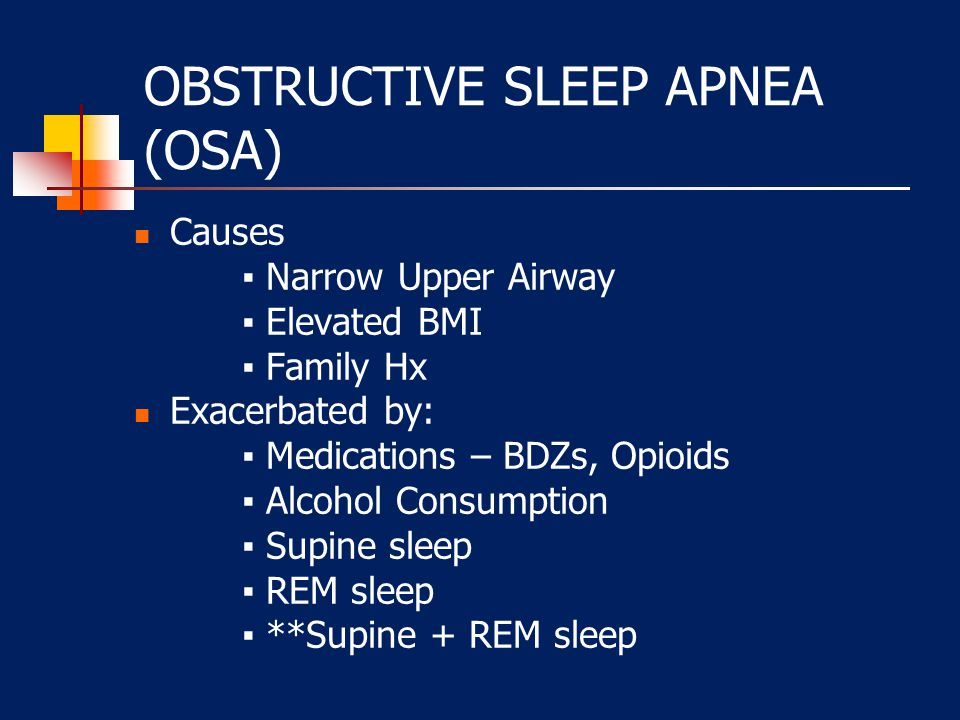 OSA Clinical Symptoms