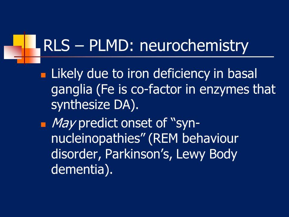 RLS/PLMD Periodic Limb Movement Disorder (PLMD) Restless Leg Syndrome (RLS) 80% 20%