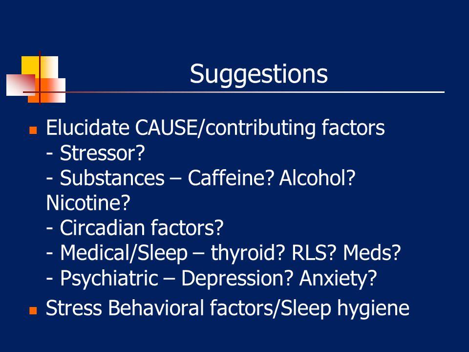 "Insomnia Sleep Deprivation – ""Hypoarousal"" - decreased metabolism - decreased body temperature - lethargy - short sleep onset times Insomnia – ""HYPER-"