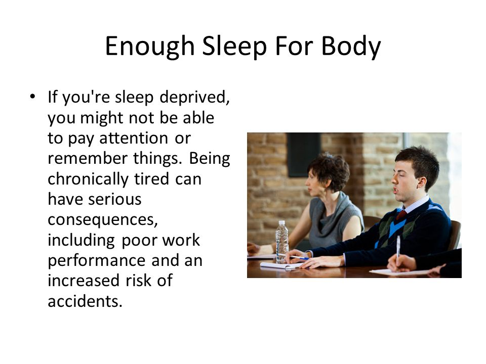 Sleep Problems Need Help If you ve had problems getting to sleep or staying asleep, or if you're consistently tired after a night's sleep, you may have a sleep disorder, and it s time to have Dr.