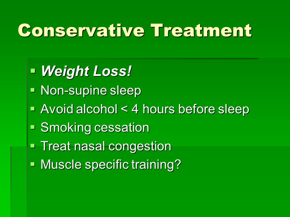 Conservative Treatment  Weight Loss.