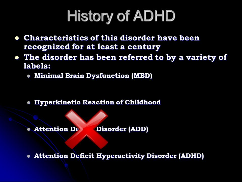 Types of ADHD Combined Type Combined Type Symptoms of hyperactivity, impulsivity and inattention Symptoms of hyperactivity, impulsivity and inattention Hyperactive/Impulsive Type Hyperactive/Impulsive Type Symptoms of hyperactivity and impulsivity Symptoms of hyperactivity and impulsivity Predominately Inattentive Type Predominately Inattentive Type Symptoms of inattention Symptoms of inattention