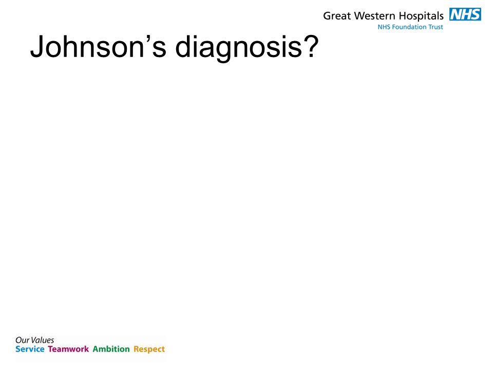 Johnson's diagnosis