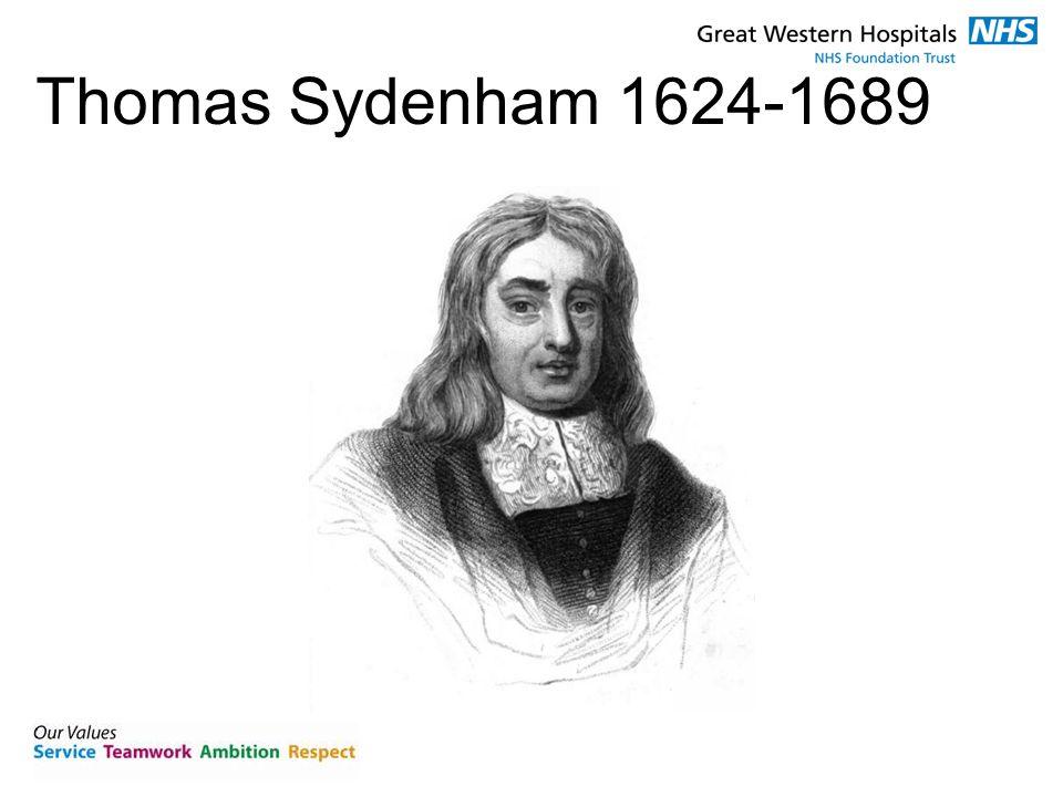 Thomas Sydenham 1624-1689