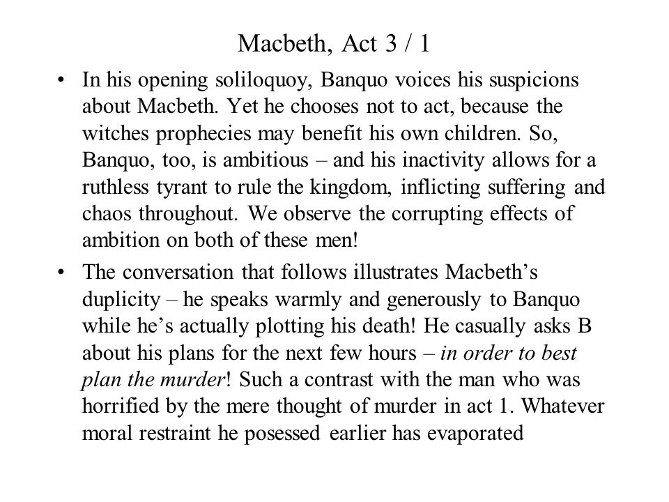 Act 3 / 6 Pay particular attention to the sarcastic tone used by Lennox in his opening exchange with the other lord.