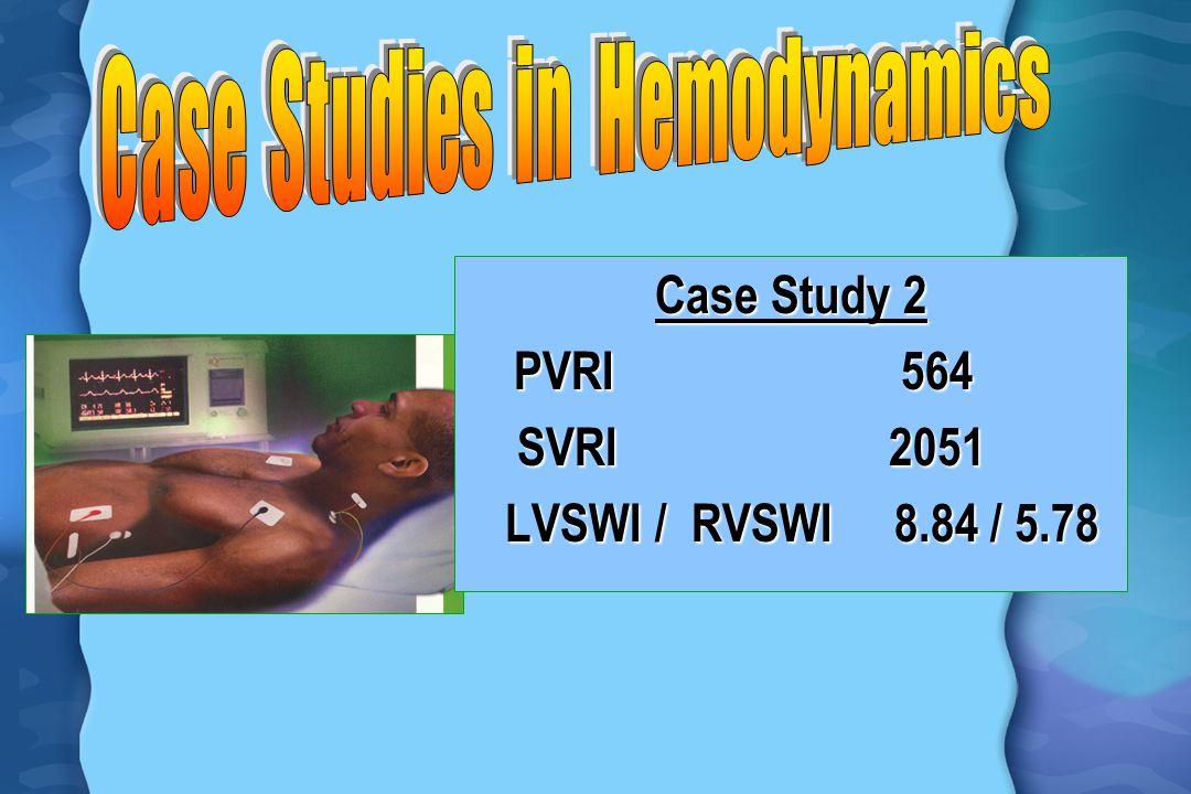 Case Study 2 PVRI 564 PVRI 564 SVRI 2051 SVRI 2051 LVSWI / RVSWI 8.84 / 5.78