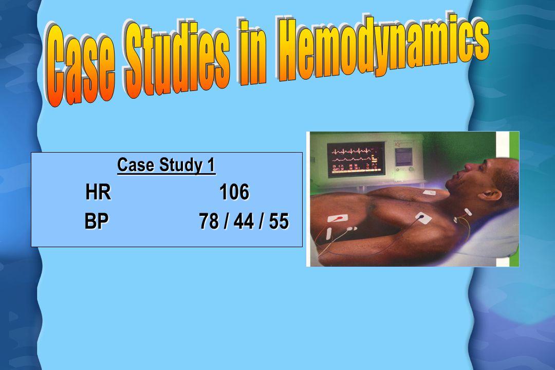 Case Study 1 HR 106 BP 78 / 44 / 55 BP 78 / 44 / 55