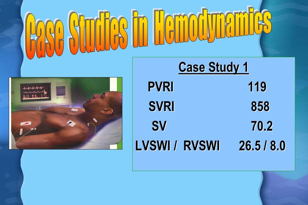 Case Study 1 PVRI 119 PVRI 119 SVRI 858 SVRI 858 SV 70.2 SV 70.2 LVSWI / RVSWI 26.5 / 8.0