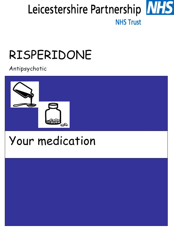 Risperidone What is this leaflet for.