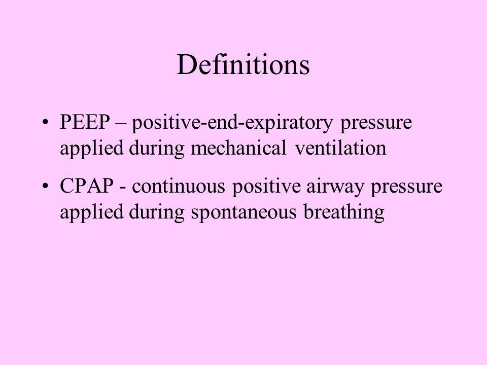 Ventilator Alarms and Common Causes High PressureLow PressureLow Exhaled Volume Kink in tubing Patient biting ETT Ventilator disconnected from ETT Pre