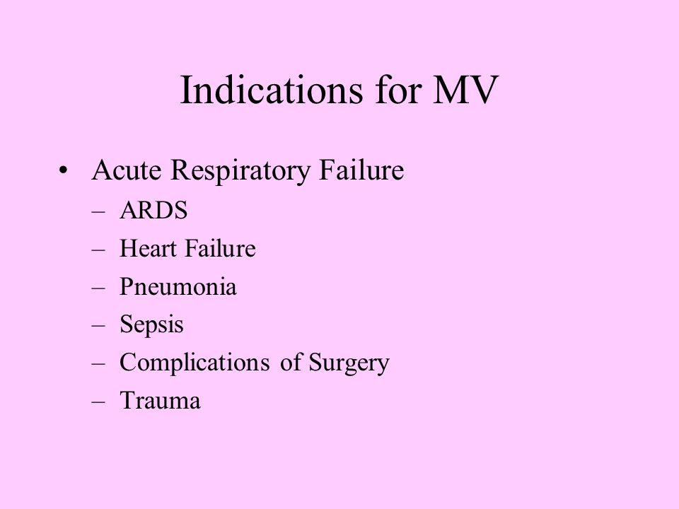 Mechanical Ventilation in Obstructive Lung Disease resistance to expired flow results in air trapping/hyperinflation hyperinflation may result in cardiopulmonary compromise Goal: meet minimal requirements for gas exchange while minimizing hyperinflation Allow increased time for expiratory flow