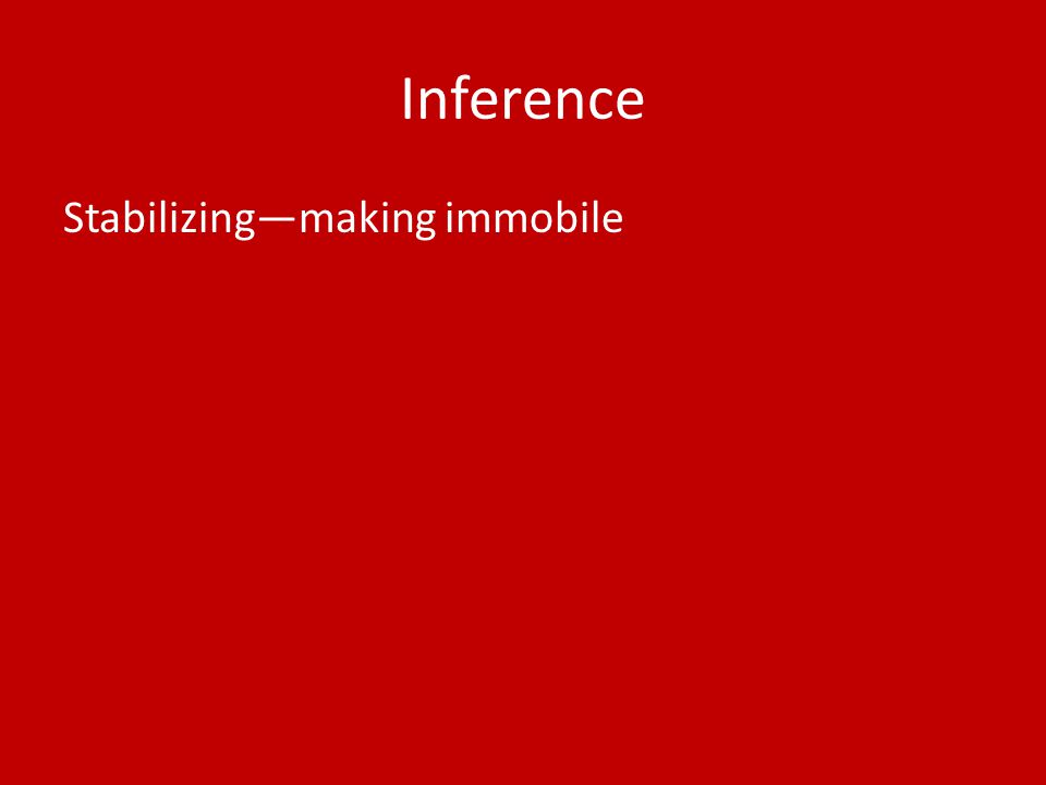 Inference Stabilizing—making immobile