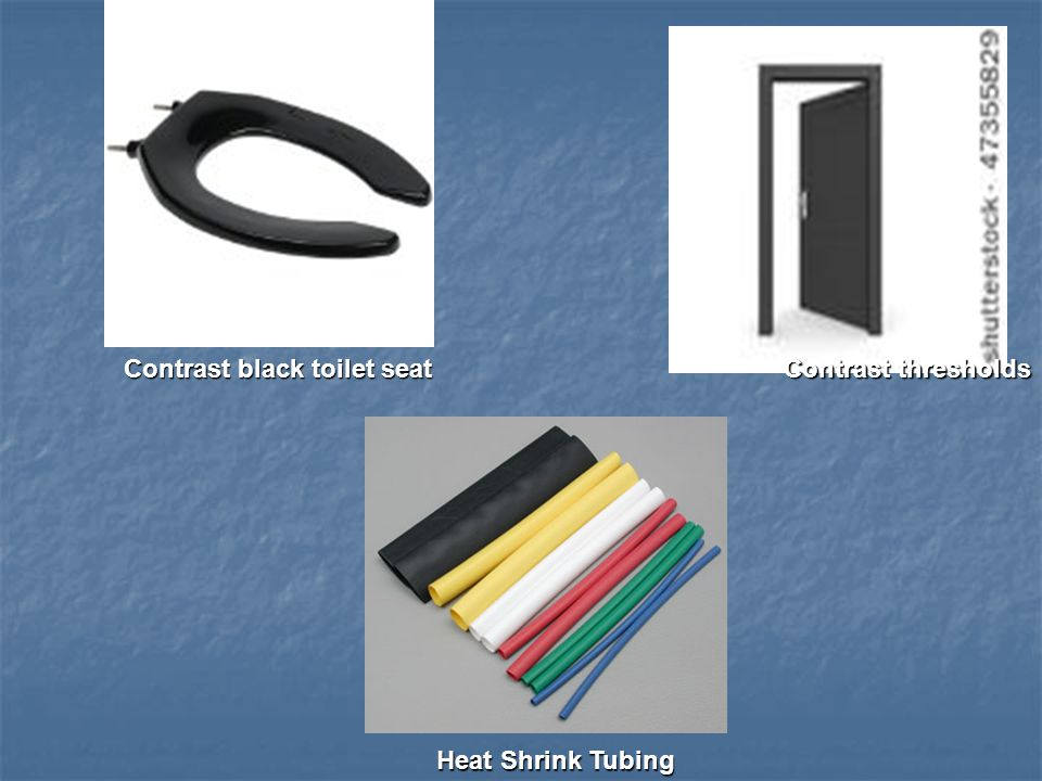 Contrast black toilet seat Contrast thresholds Heat Shrink Tubing