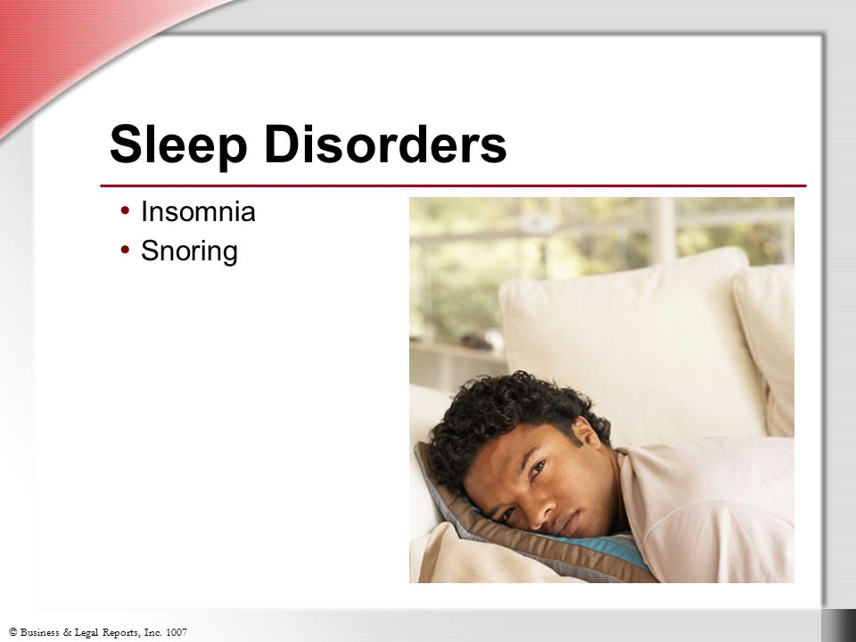 Sleep Disorders Insomnia Snoring