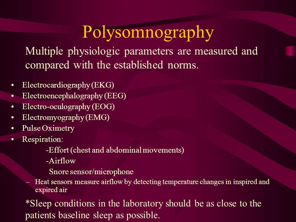 Indicators for a Polysomnography (PSG) Suspicion of disorders that disturb sleep like sleep apnea, periodic limb disorder, REM behavior disorder EDS O