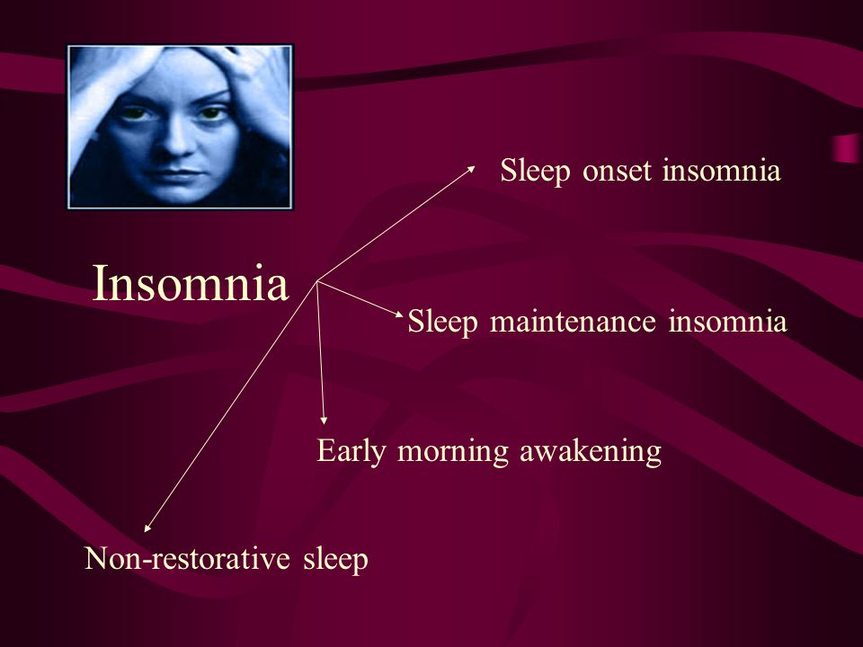 Insomnia Patient Scenario #4 A 30 year old Female is referred for complaints of inability to sleep for more than 10 years. The patient reports it usua