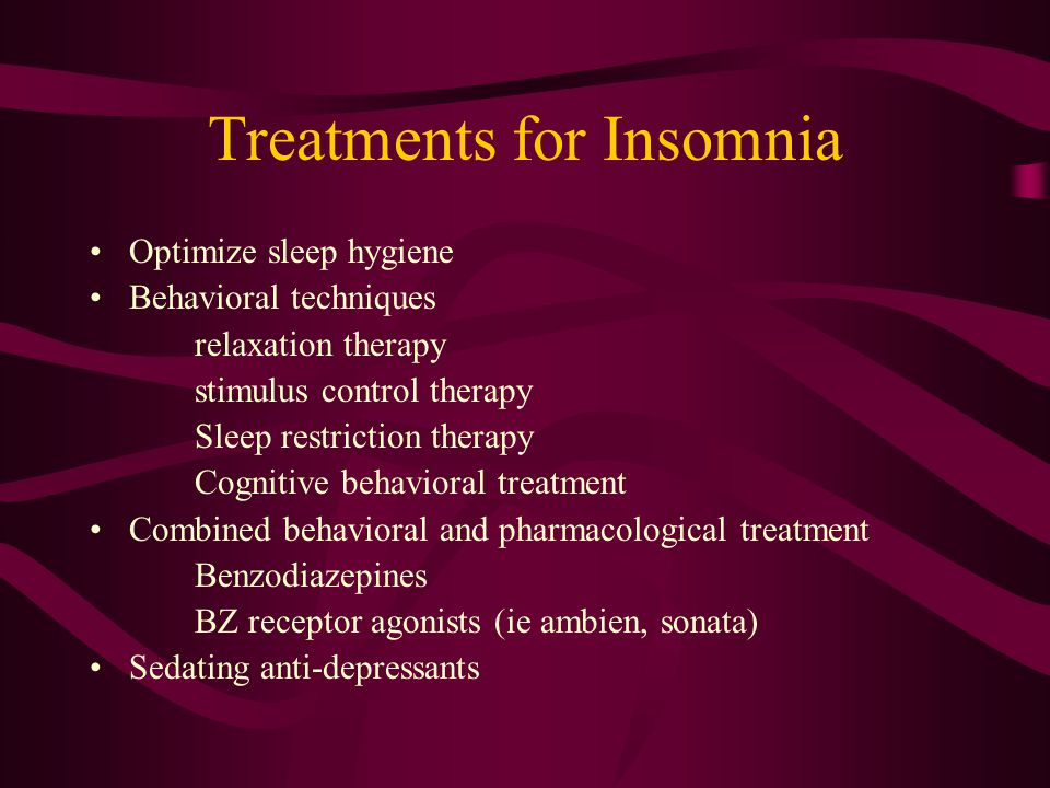 Diagnosis of the cause of Insomnia based on: Careful History Review of Patient's sleep diary PSG: Typically normal and may not be beneficial unless th