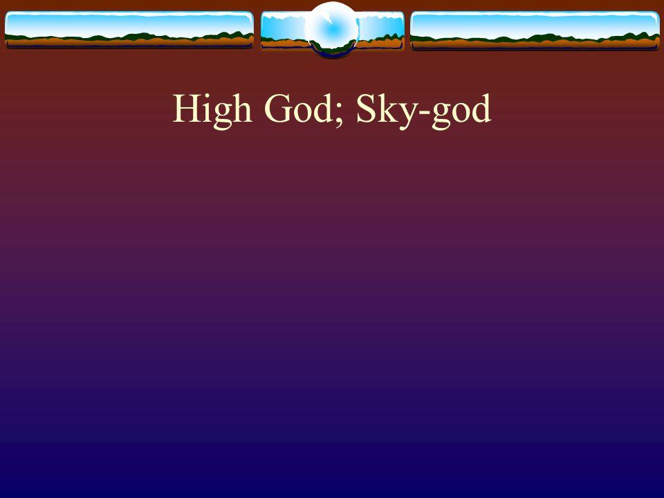 High God; Sky-god