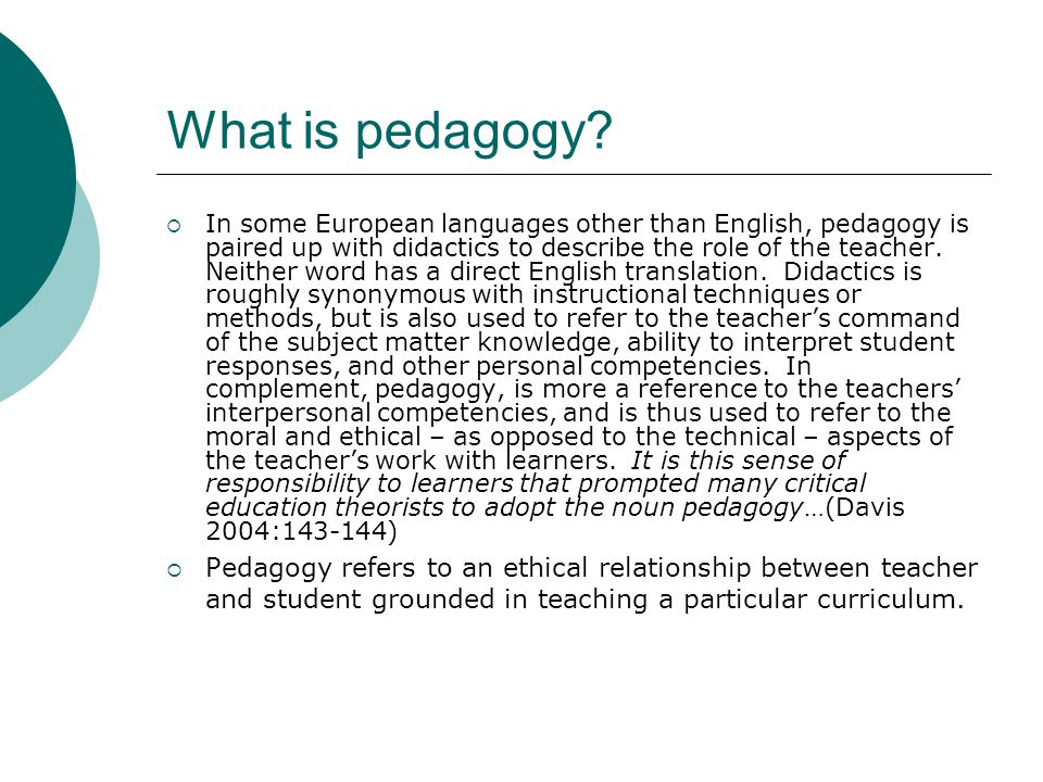 What is pedagogy.