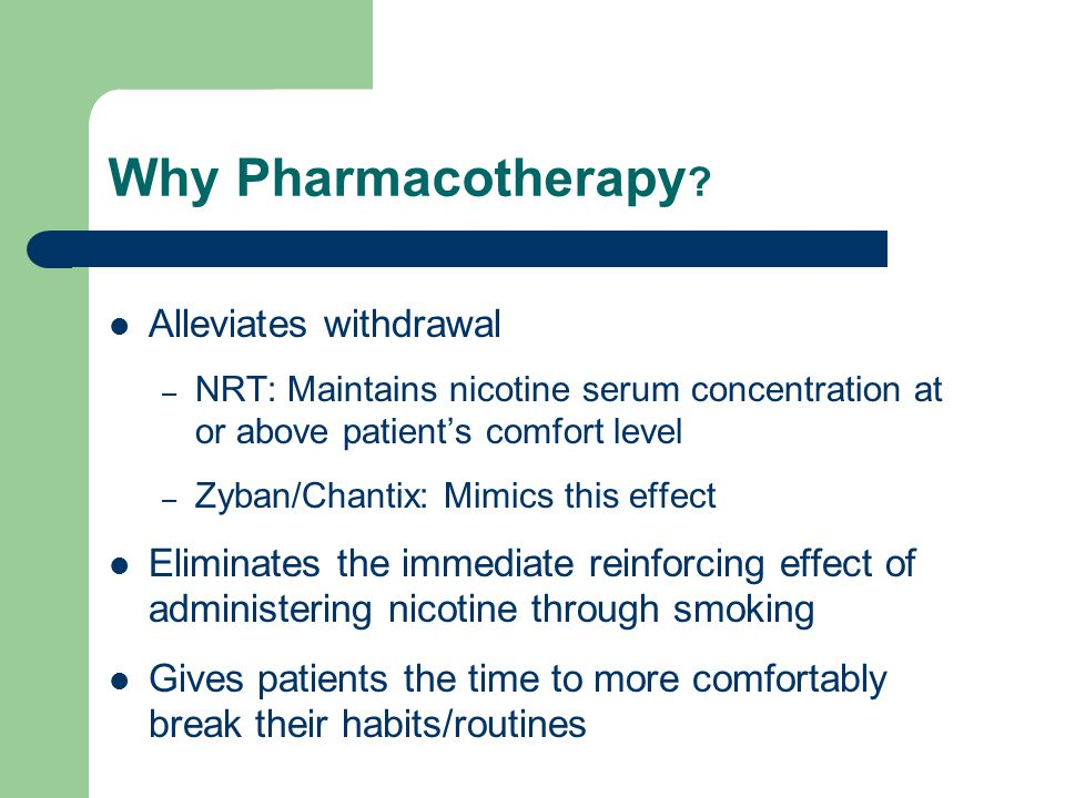 Why Pharmacotherapy .
