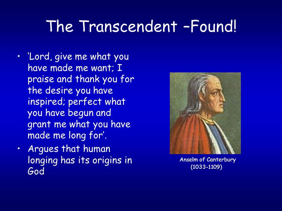 The Transcendent –Found.