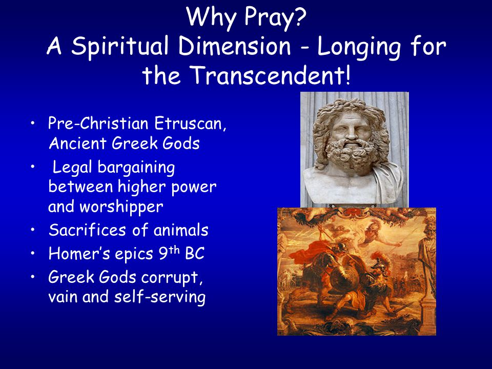 Why Pray.Response to God's Initiative. King David and the Prophets (e.g.