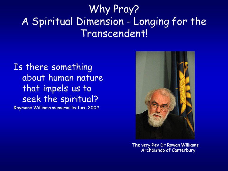 Why Pray.Response to God's Initiative.