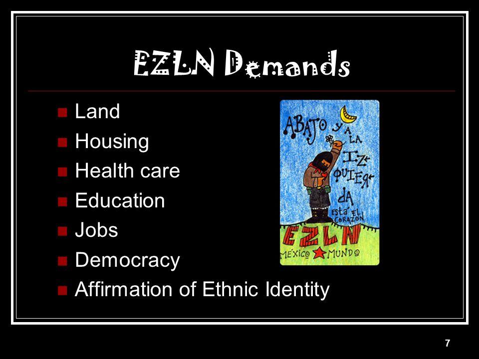 6 EZLN Led by Subcomandante Marcos Seized San Cristóbal de las Casas & 3 other towns January 1, 1994